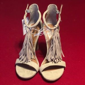 NWT ADORABLE Taupe Suede Heels